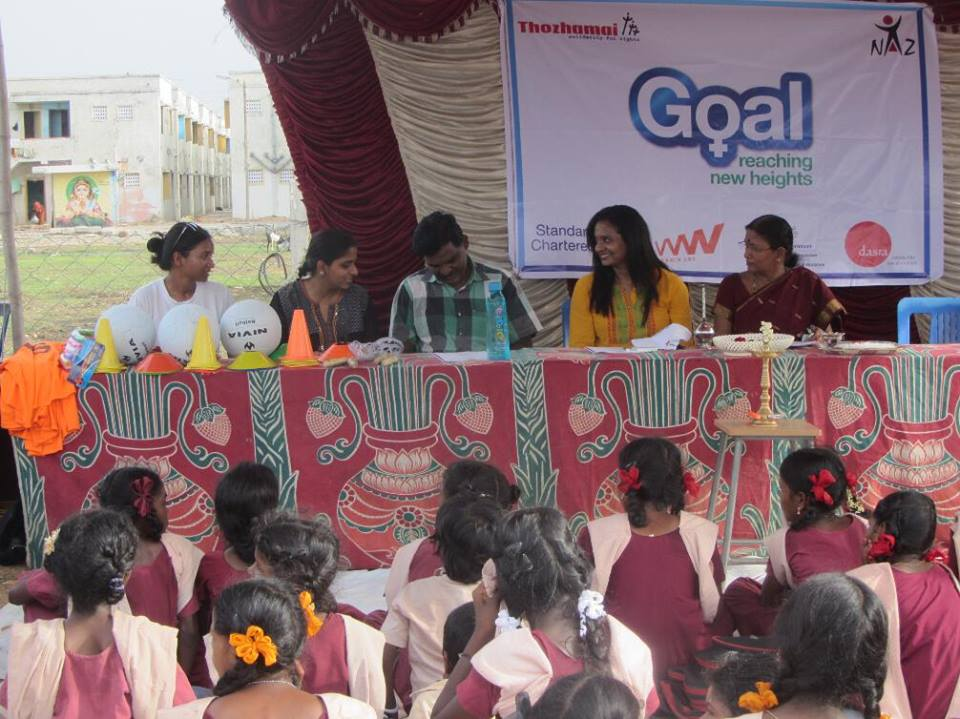 The Naz Foundation launch  the Goal Programme in Chennai, India.